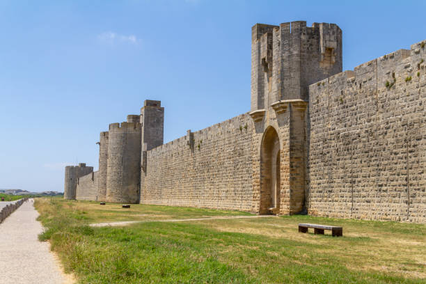 Aigues-Mortes in France stock photo