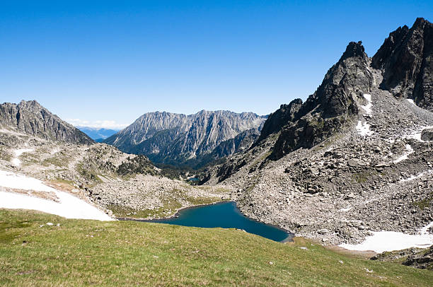 aiguestortes and sant maurici national park, pyrenees (spain) - lleida 個照片及圖片檔