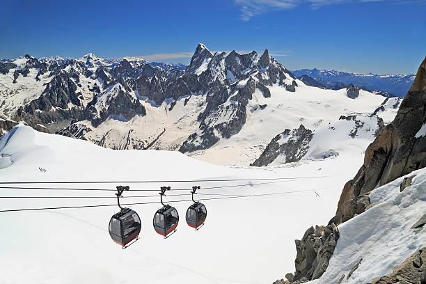 Aiguille du Midi gondolas in French Alps - Photo