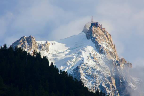 Aiguille du Midi - vue de Chamonix pendant l'été - Photo