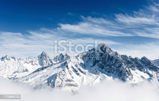 Aiguille Verte and the Mont Blanc Massif