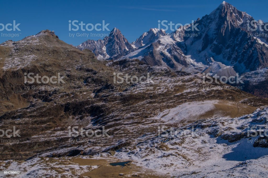 aiguillette des houches,chamonix,haute savoie,france royalty-free stock photo
