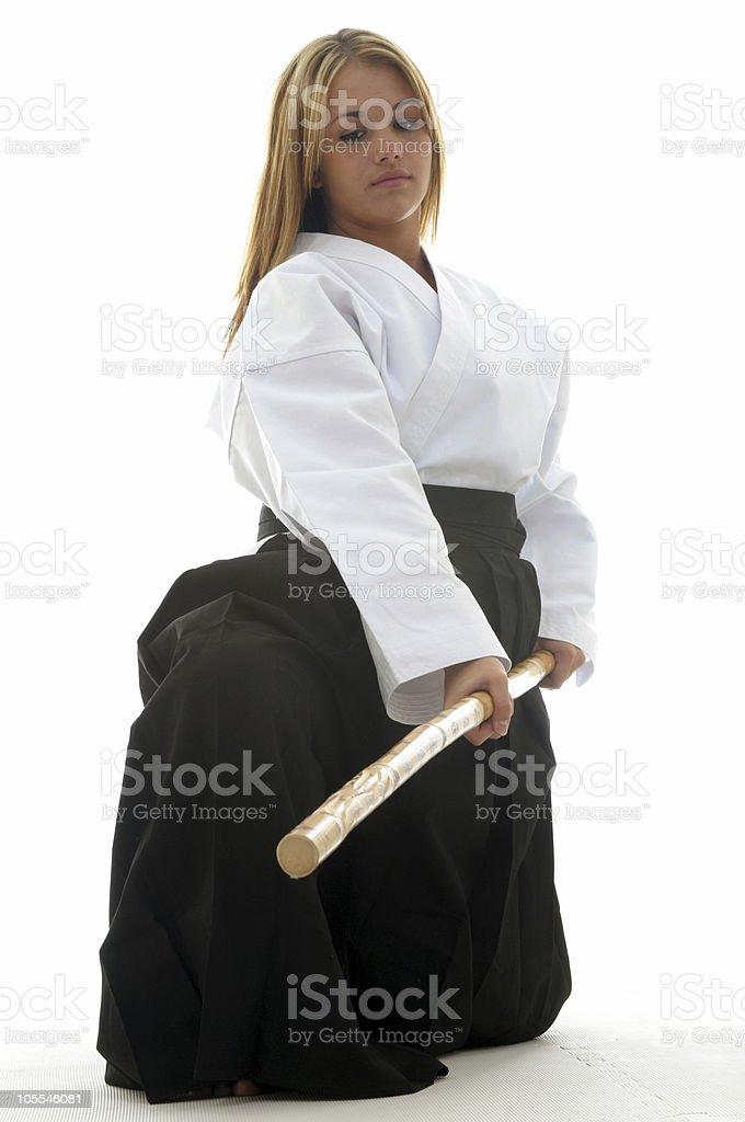 Aikido Bo Staff Stock Photo - Download Image Now - iStock