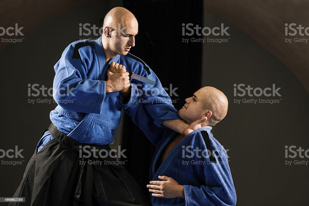 Aikido self-defense. royalty-free stock photo