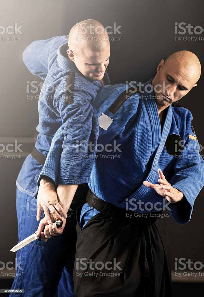 Aikido self-defense. royalty-free stock photo