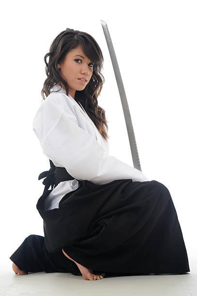 Aikido steel stock photo