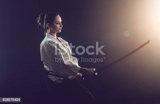 istock Aikido woman 626575404