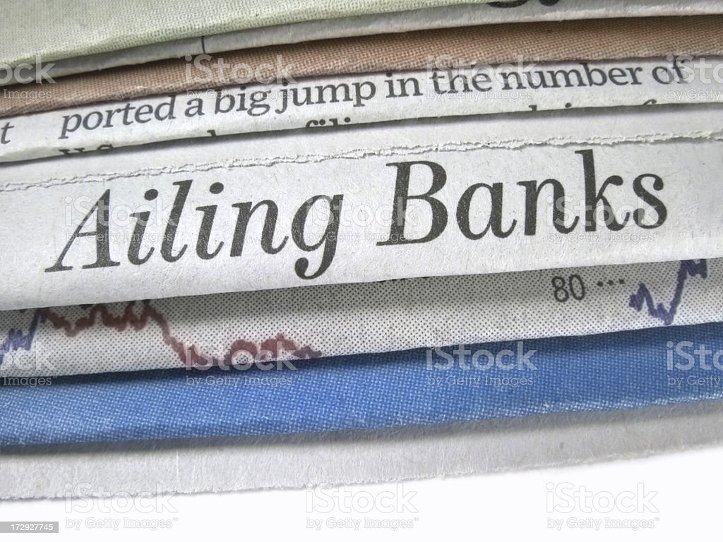 Ailing Banks stock photo