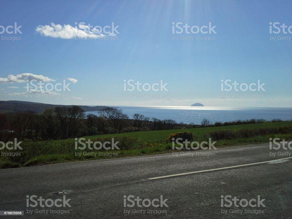 Ailsa Craig de la côte écossaise photo libre de droits