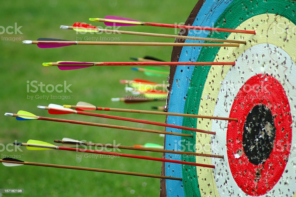aim the center stock photo