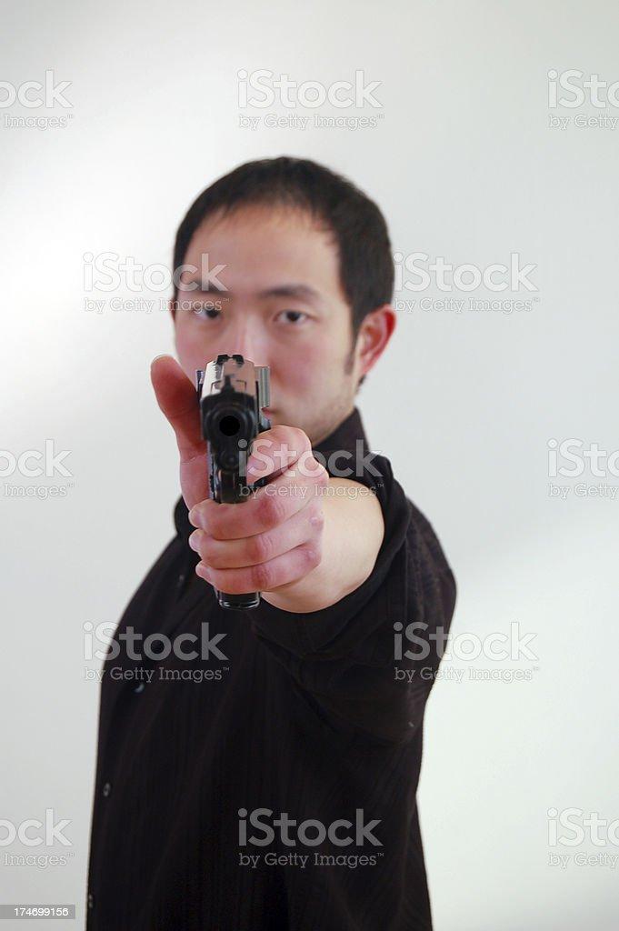 Aiming at Camera stock photo