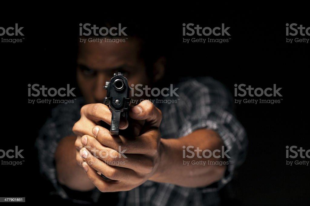 aiming at you stock photo