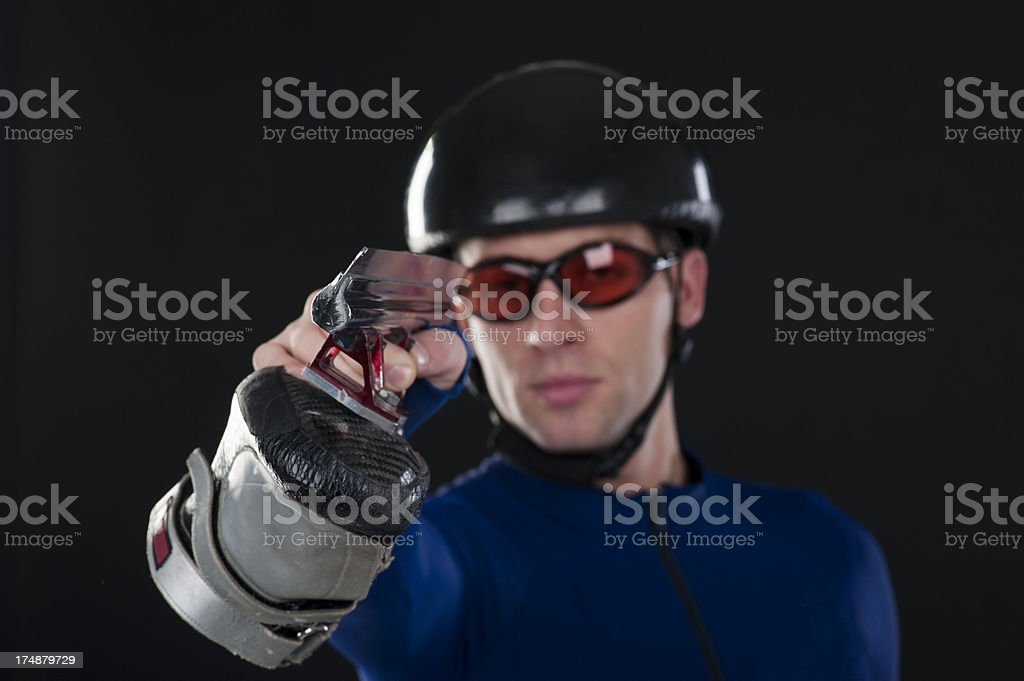 Aiming for gold stock photo