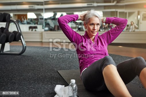 Shot of a mature woman working out at the gym