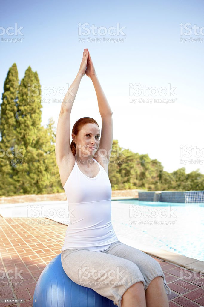 Aiming for total relaxation royalty-free stock photo