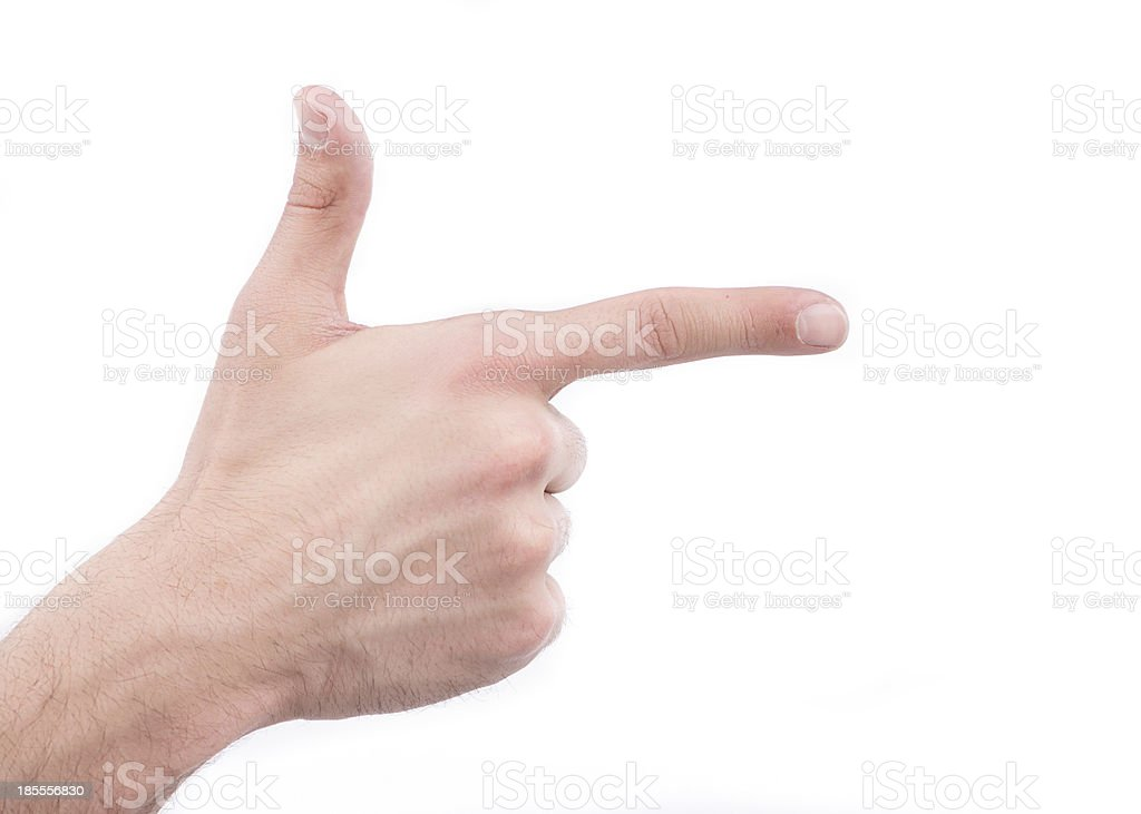 Aiming hand sign royalty-free stock photo