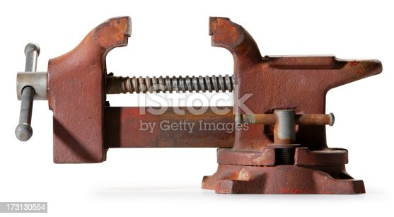 A vise. Clipping path included.