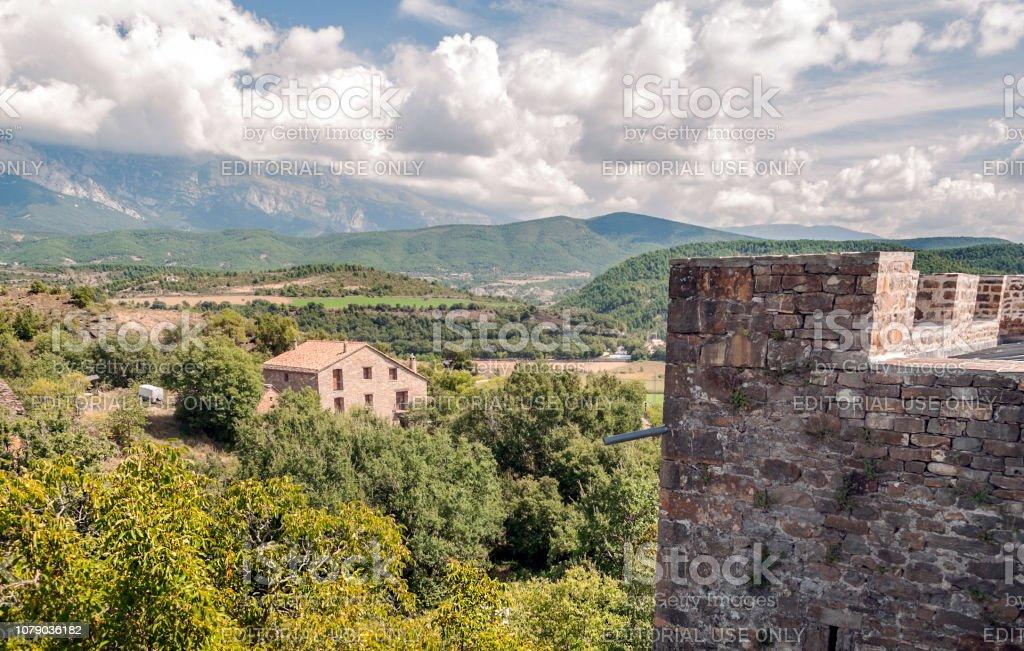 Castillo de Ainsa - foto de stock
