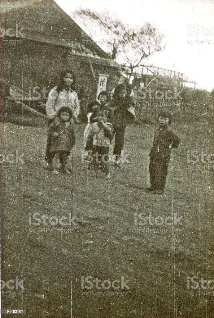 Ainu Children stock photo