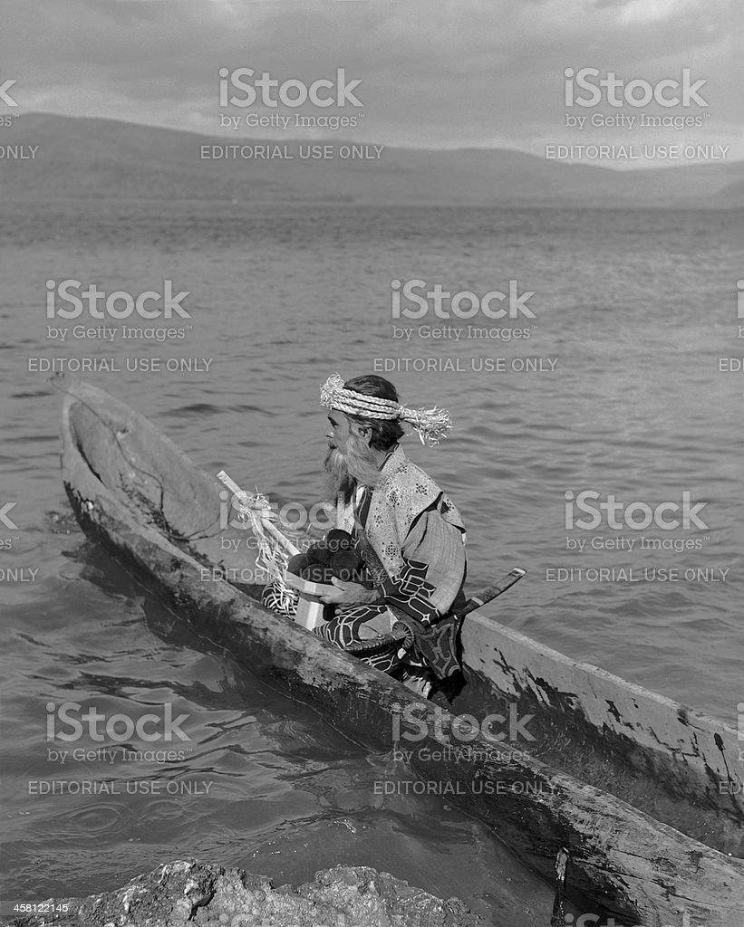 Ainu man. stock photo