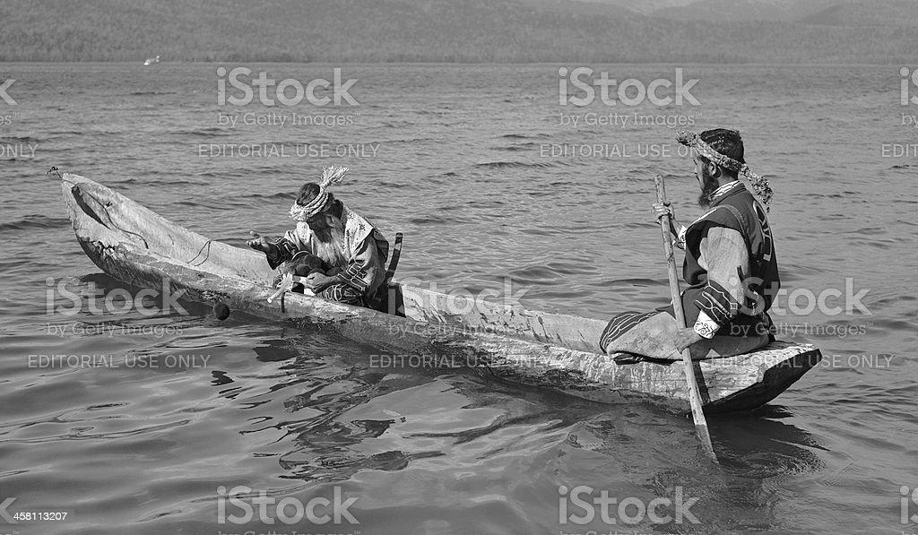 Ainu men. stock photo