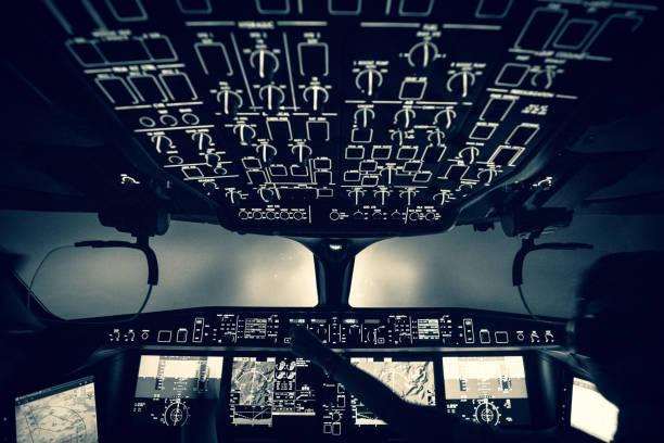 Aiplane Cockpit stock photo