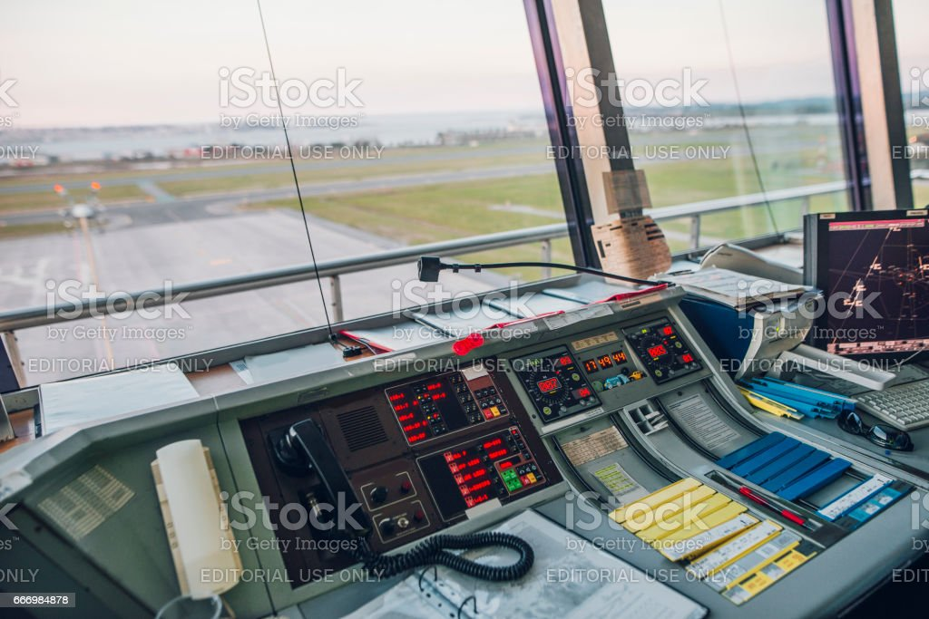Aiport Control Tower stock photo