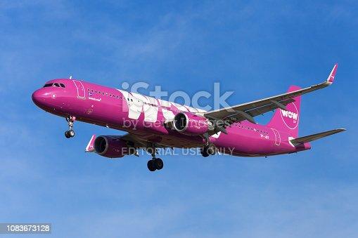 istock WOW Air Airbus A321 1083673128