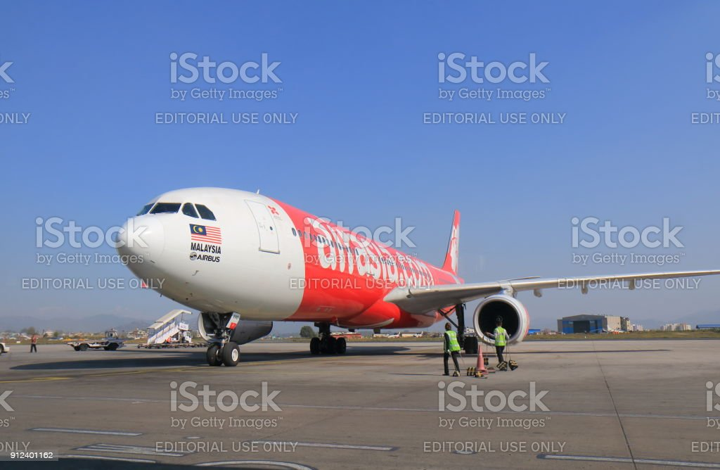 Air Asia Plane stock photo