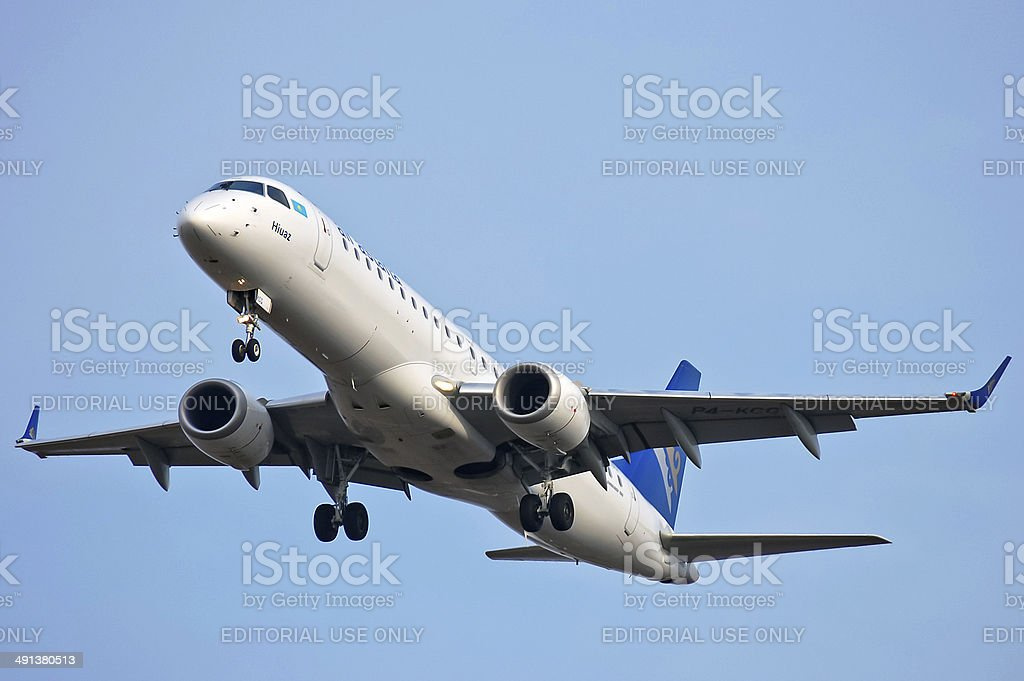 Air Astana Embraer ERJ-190 stock photo