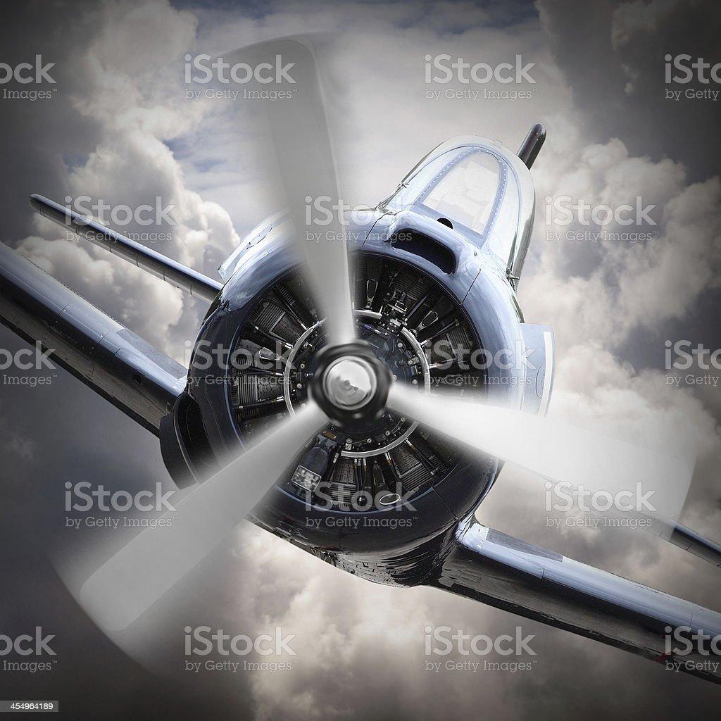 Air attack. stock photo