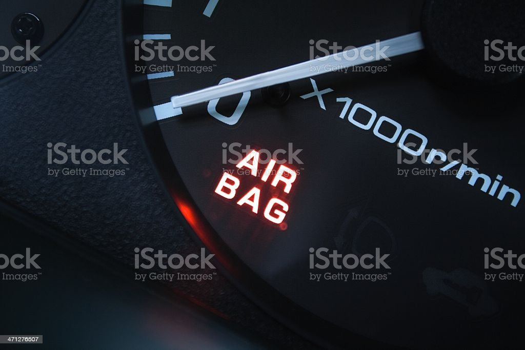 air bag alarm  (triggered?) stock photo