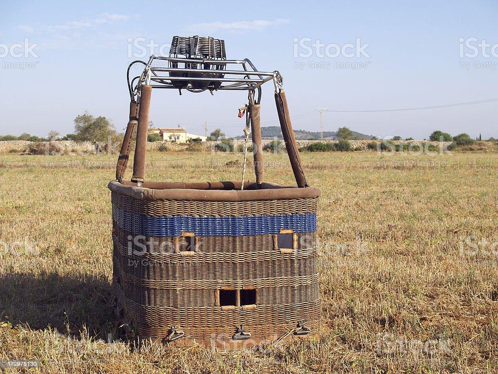 Air Ballon basket royalty-free stock photo
