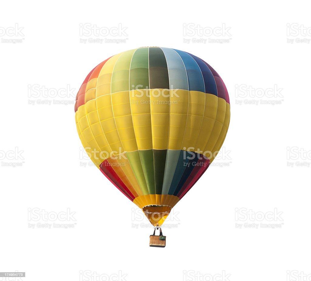 Heißluftballon, isoliert auf weißem Hintergrund – Foto