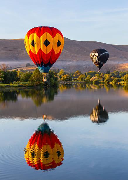 Air Balloon Rally stock photo