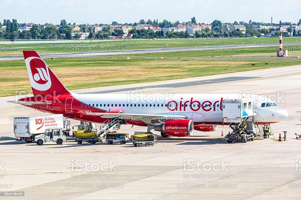 Air Berlin Airplane stock photo