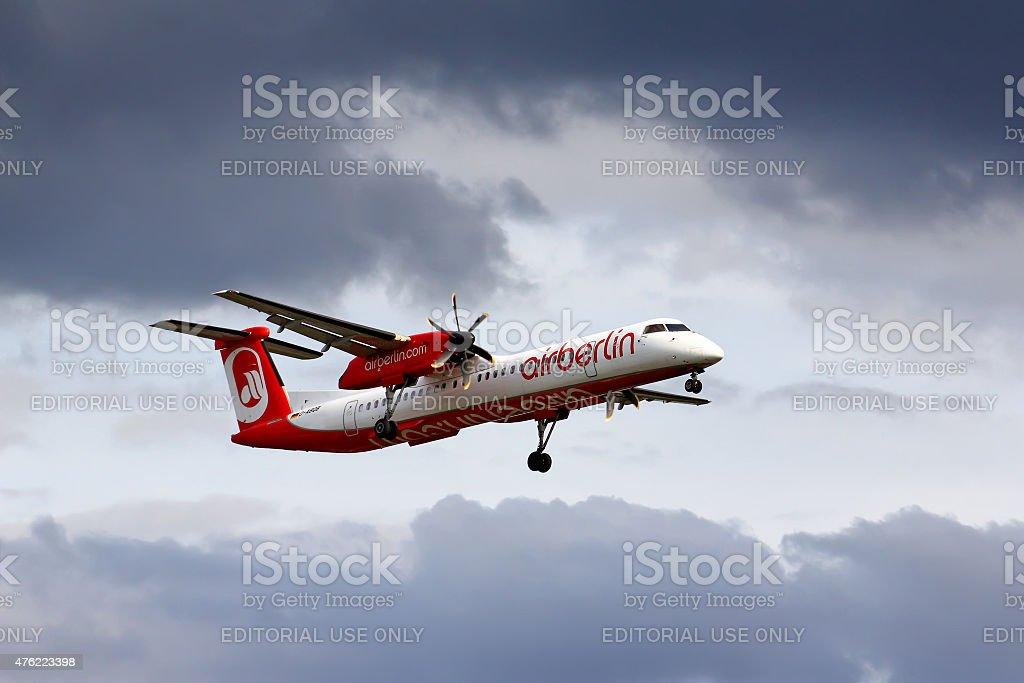 Air Berlin Bombardier De Havilland DHC-8 Q400 stock photo