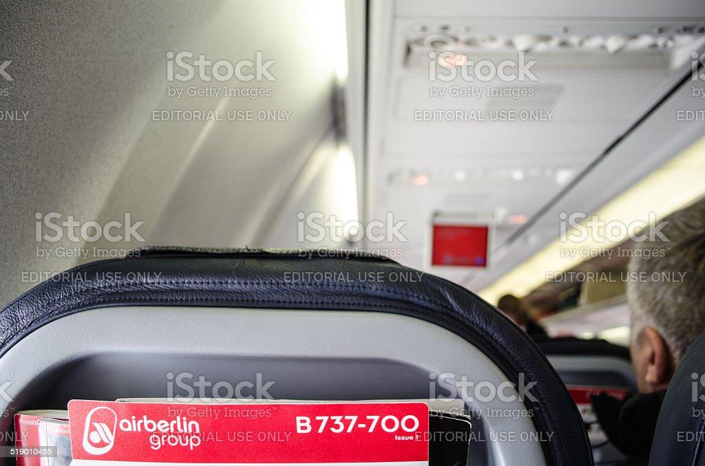 Air Berlin cabin stock photo