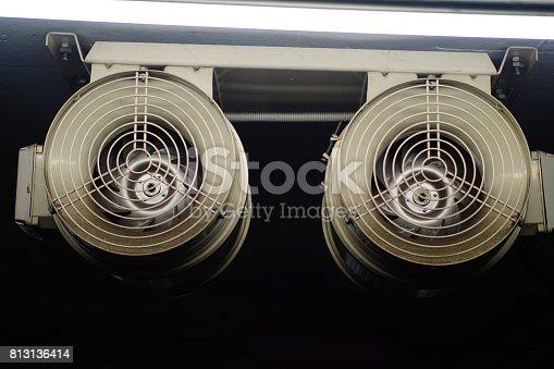istock Air Blower car Parking 813136414