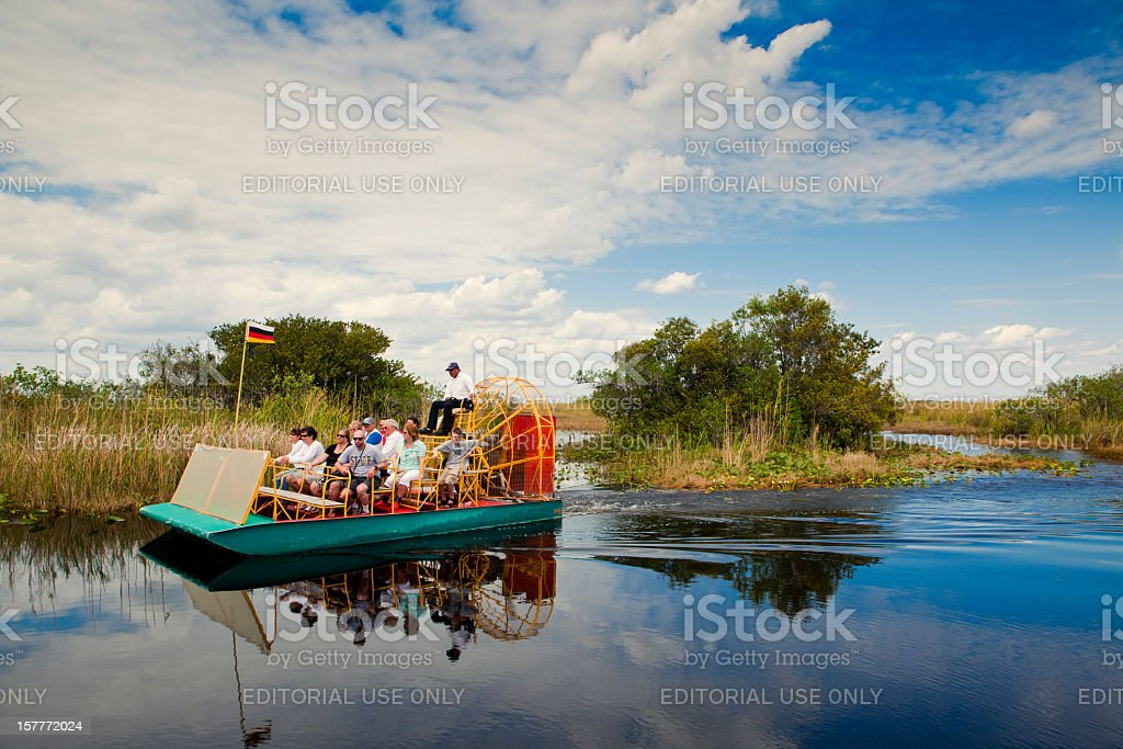 air boat in the florida everglades stock photo