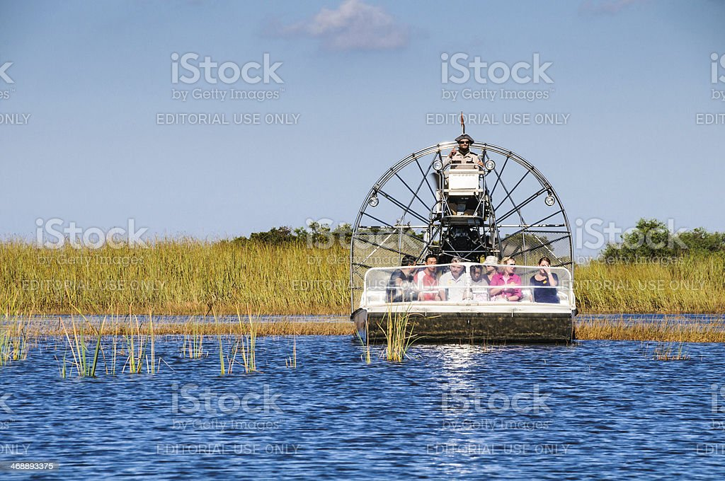 Air Boat Safari stock photo