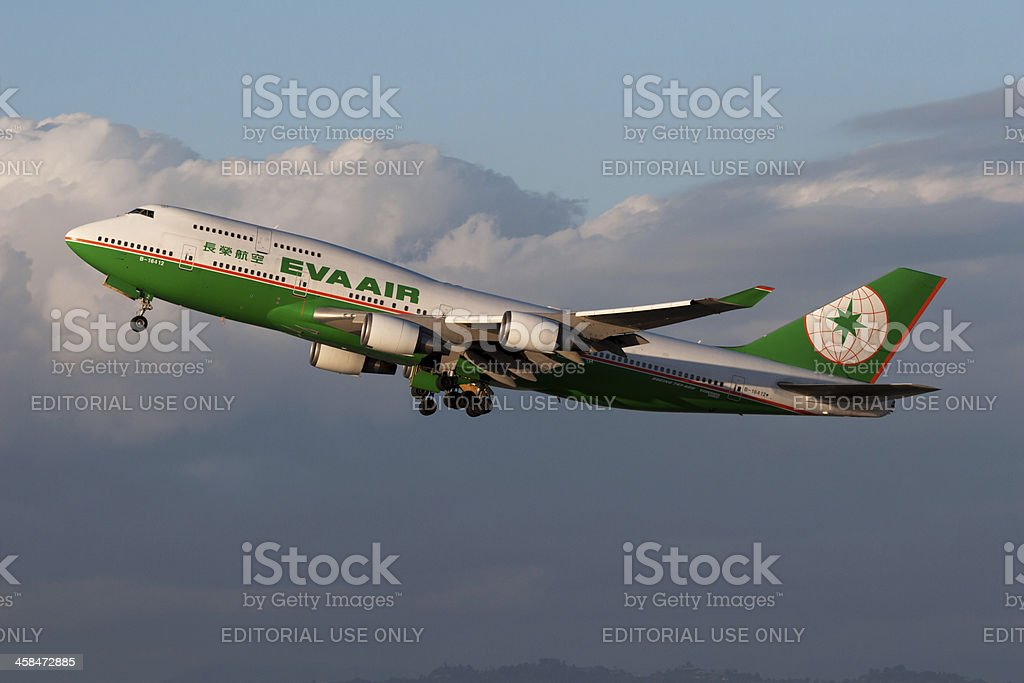 EVA Air Boeing 747 royalty-free stock photo