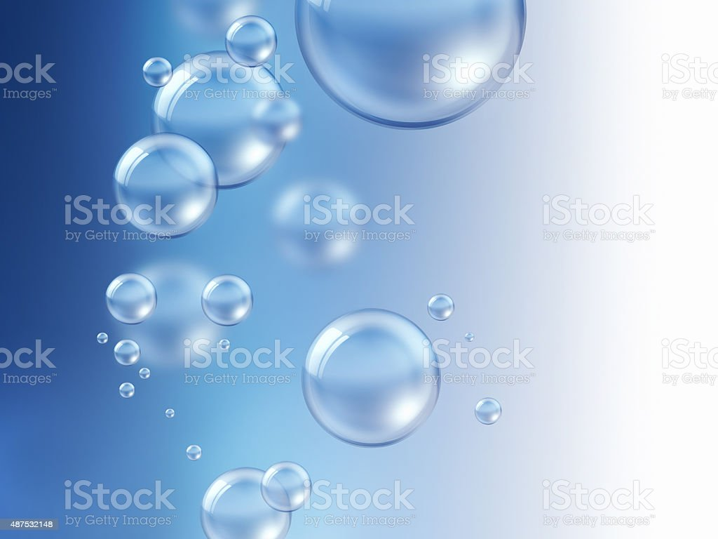 air bubbles under water stock photo