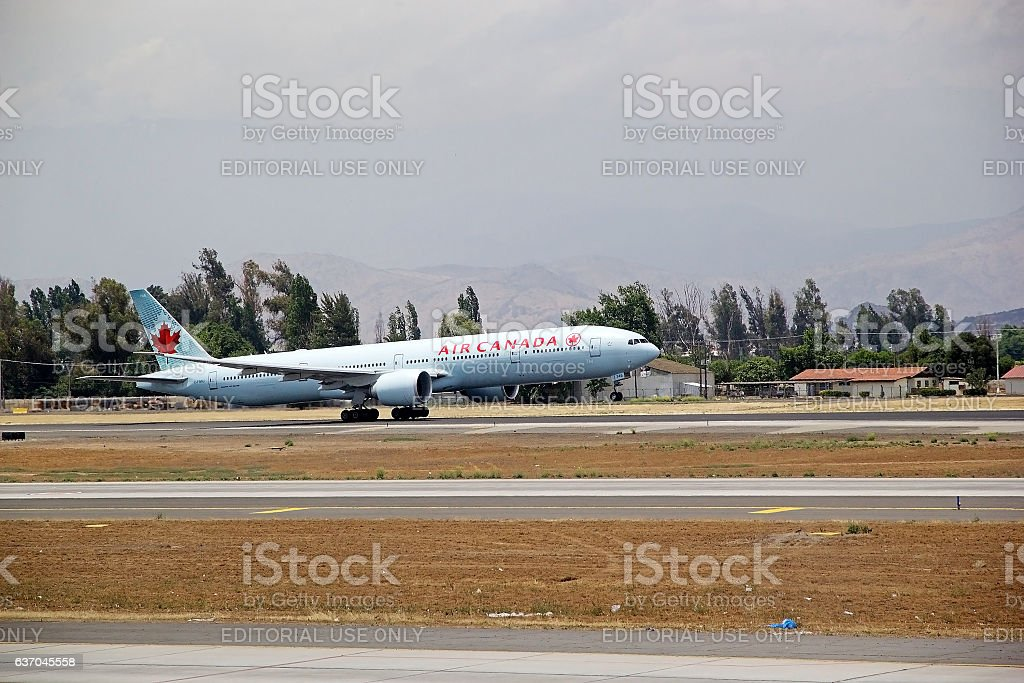 Air Canada at the Santiago airport, Chile - Photo