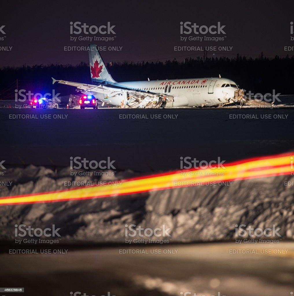 Air Canada Flight 624 Crash Landing stock photo