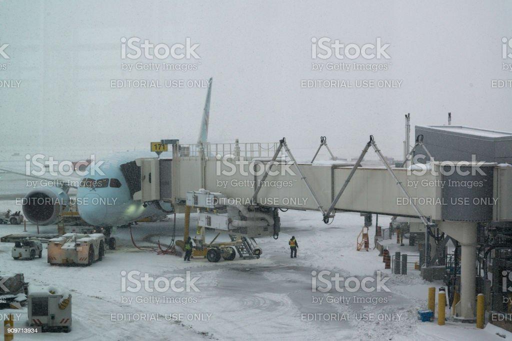 Air Canada plane stock photo