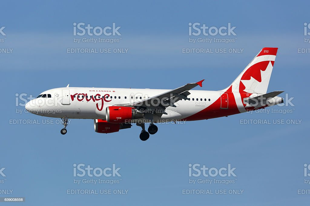 Air Canada Rouge Airbus A319 airplane - Photo