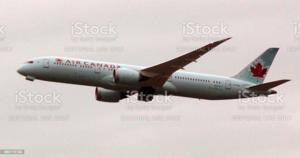 Air Canada qui décollait de l'aéroport de Francfort en Allemagne Europe - Photo