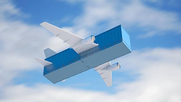 Air cargo concept stock photo