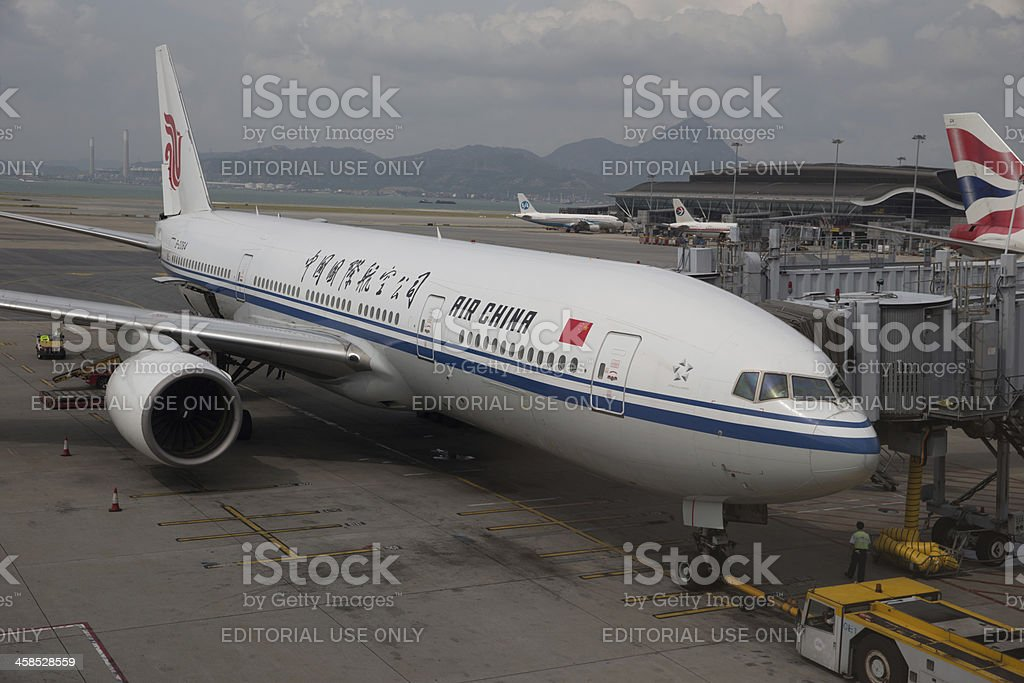 Air China Boeing 777 royalty-free stock photo